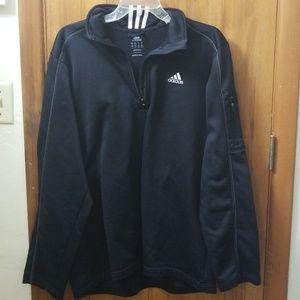 Black Adidas Jacket with Zipper Pocket